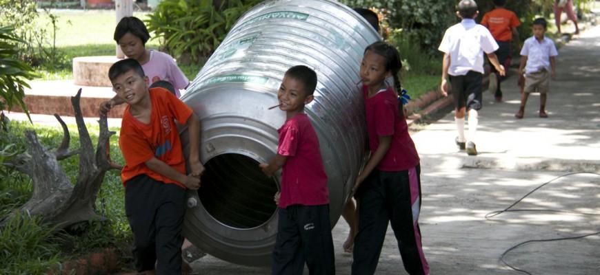 Trinkwasseraufbereitung mit C-MEM in thailändischer Schule