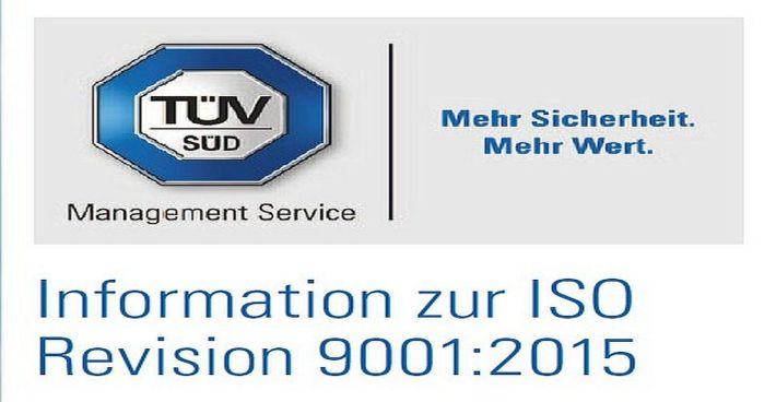 Umstellung des Qualitätsmanagementsystems auf die neue ISO 9001 : 2015 Zertifizierung