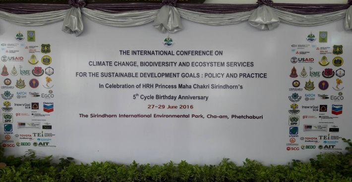 """C-MEM Zero auf der """"Internationalen Konferenz über Klimawechsel, Biodiversität und Ökosystemdienstleistungen"""" in Thailand"""