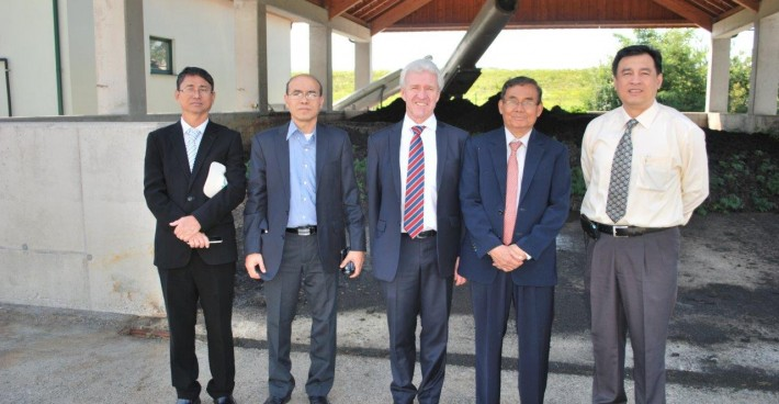 Myanmar´s Union Minister of Natural Resources and Environmental Conservation visits C-TECH reference plant Klein-Pöchlarn (A)