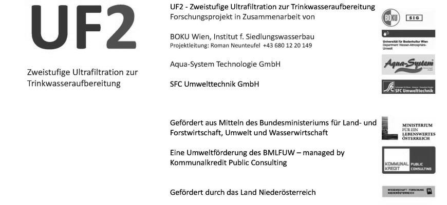 Neues Forschungsprojekt: UF2 – Zweistufige Ultrafiltration zur Trinkwasseraufbereitung