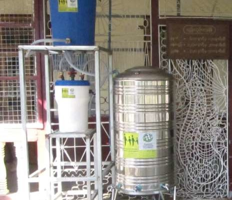 Trinkwasseraufbereitungsanlage Krankenhaus Zalun Township – Myanmar