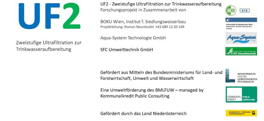 Veröffentlichung des Endberichts zum Projekt UF2 – Zweistufige Ultrafiltration zur Trinkwasseraufbereitung