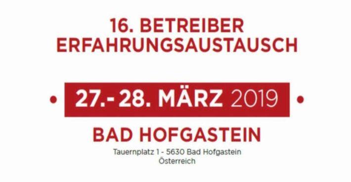 16. SEEGEN Betreiber-Erfahrungsaustausch in Bad Hofgastein (Österreich)