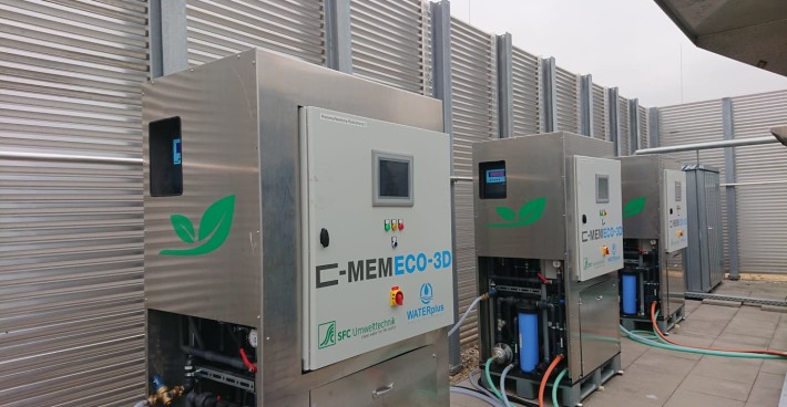 Innovative drinking water treatment by C-MEM ultrafiltration for turbidity and pathogen removal