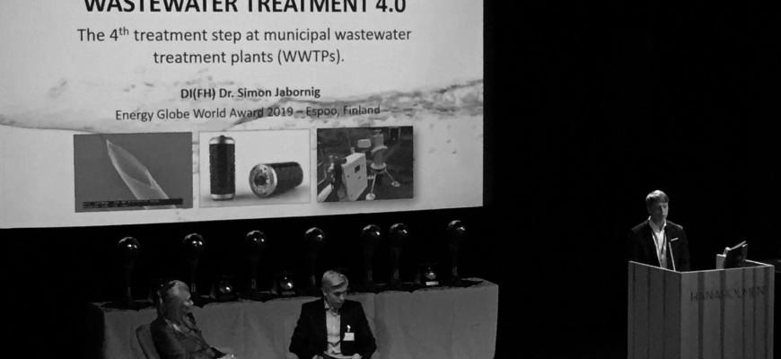 Dr. Simon Jabornig beim 20. Energy Globe World Award in Finnland