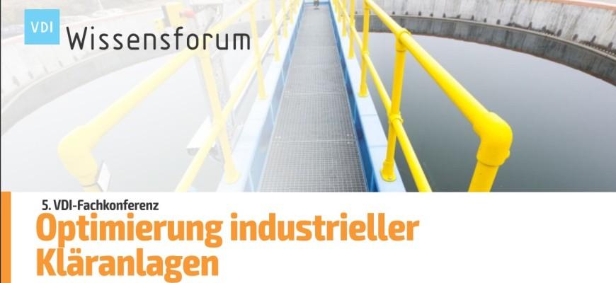 SFC Umwelttechnik GmbH auf der 5. VDI-Fachkonferenz Optimierung industrieller Kläranlagen 2020