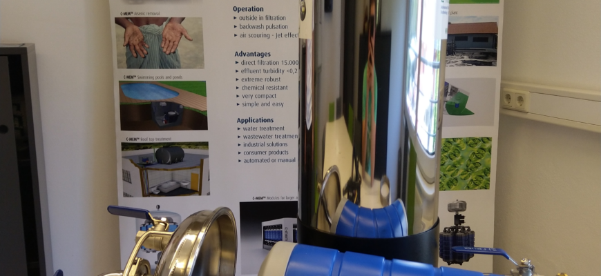 Die mit reinem Vordruck oder Schwerkraft betriebene C-MEM Zero Einheit für die Trinkwassergewinnung