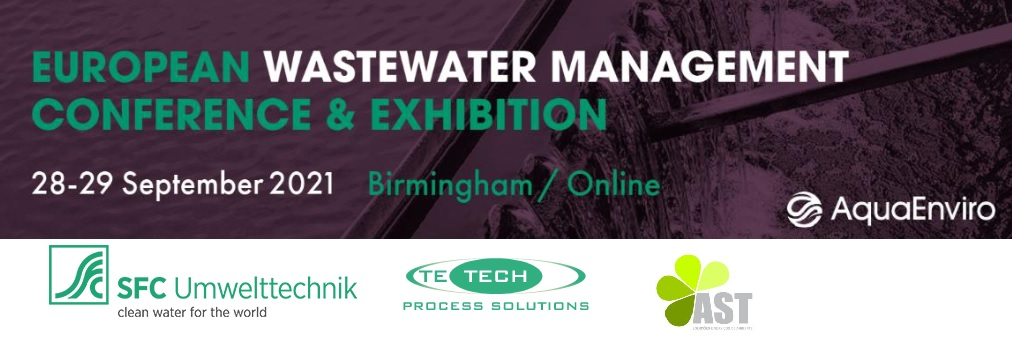 Meet us at this year's European Wastewater Management Conference (EWWM)